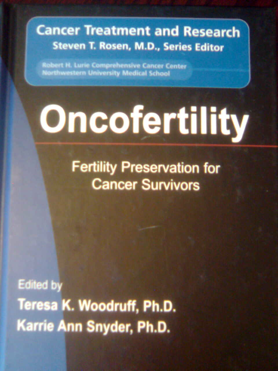 Cover of the Oncofertility book reviewed by Dr. Jared Robins in the journal Fertility and Sterility